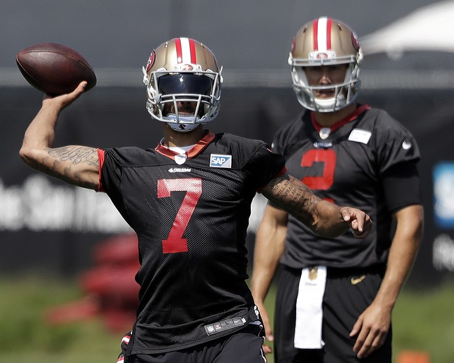 Kelly: Kaepernick To Play On Thursday, Gabbert To Sit Out