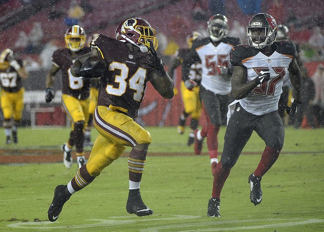 Halftime Report: Buccaneers vs. Redskins
