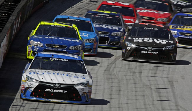 Edwards, JGR dominate Sprint Cup qualifying at Bristol