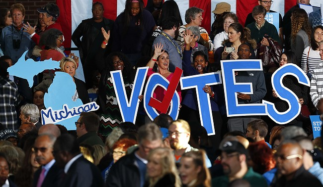 Hillary Clinton promoting 'Get out the Vote' campaign in Detroit Friday