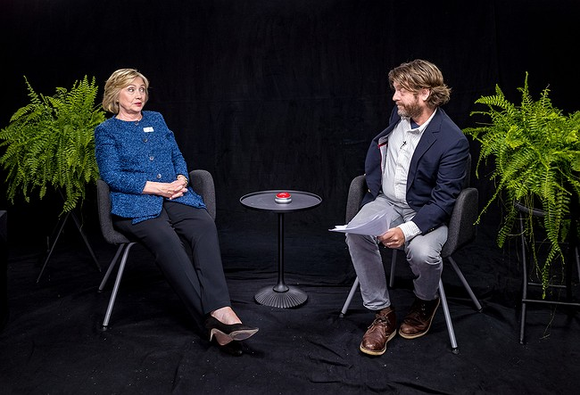 Hillary Clinton spars with Zach Galifianakis on 'Between Two Ferns'