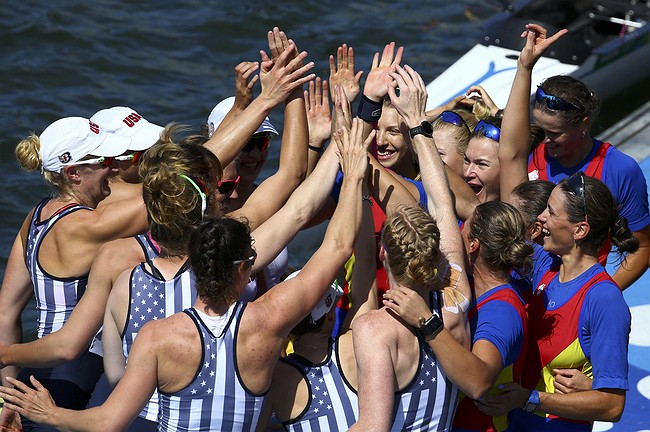 Coxswain's rallying cry powers US women's 8 to another gold