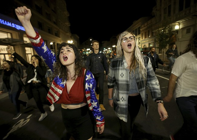 Thousands take to streets in major cities to protest Trump election