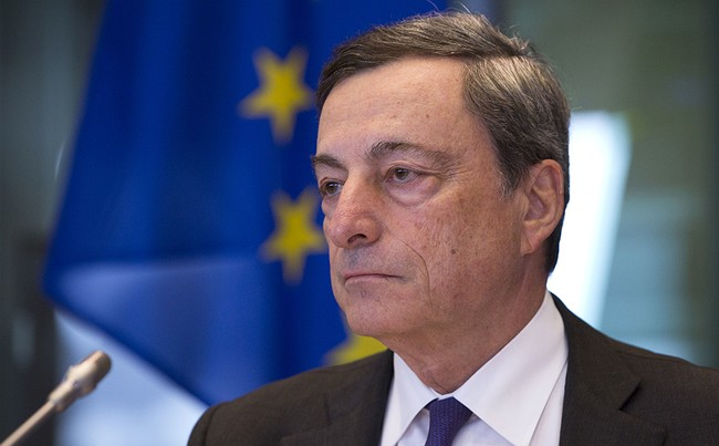 Euro drops to four-month lows on dovish Mario Draghi comments