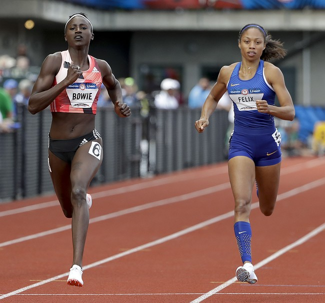 Allyson Felix misses chance at Olympic double