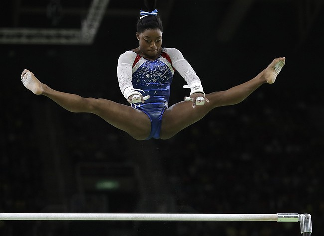 Simone Biles wins 2016 Olympic women's individual all-around gold medal in gymnastics