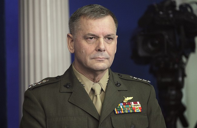 Retired Gen. Cartwright Charged with Making False Statements