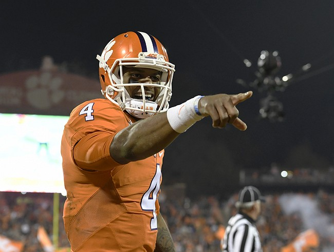 Watson Accounts for 5 TDs, Clemson Beats Virginia Tech 42-35