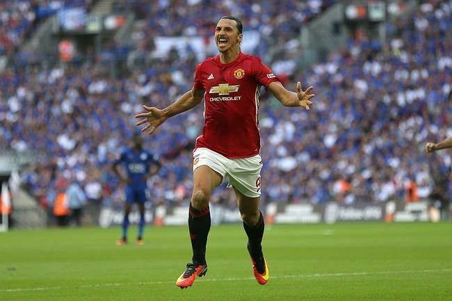 Ibrahimovic scores late victor as United win Community Shield