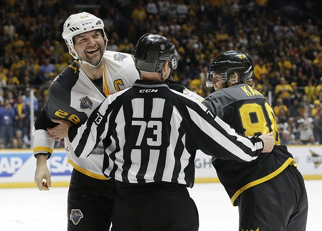 John Scott, fan vote as captain, gets MVP at All-Star Game