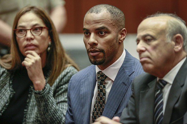 Judge rejects plea deal in ex-NFL star Sharper's rape case
