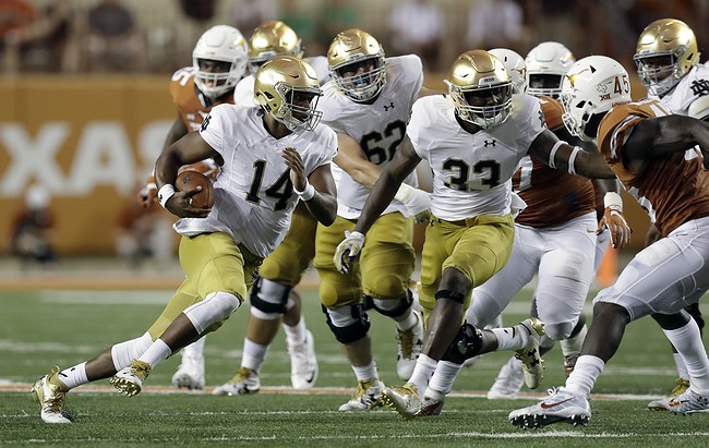 Officials silent on Notre Dame helmet hit despite new rule