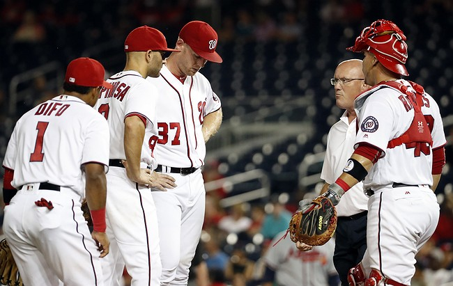 Nationals say Stephen Strasburg has a strained flexor mass