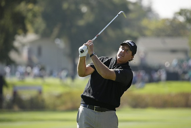 Mickelson heads to Safeway, still riding high from Ryder Cup