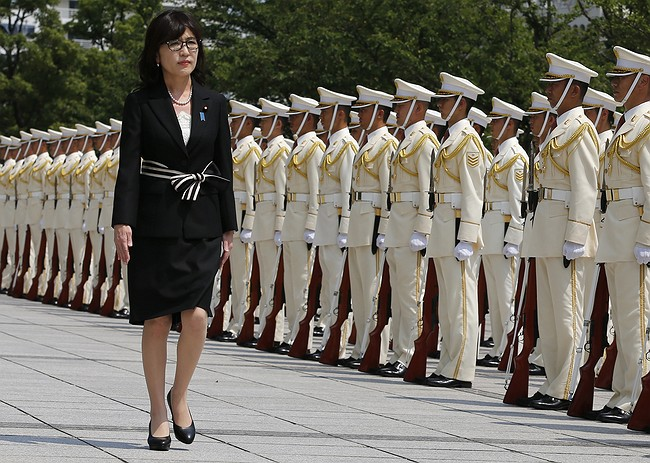 Japanese opposition party elects first female leader