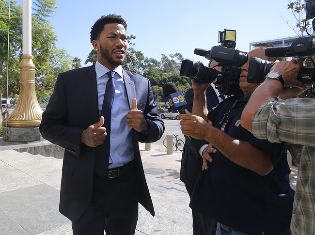 Woman testifies in National Basketball Association  star Derrick Rose's rape lawsuit