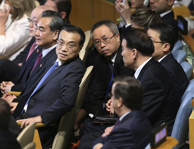 Chinese premier arrives in NY for United Nations conference