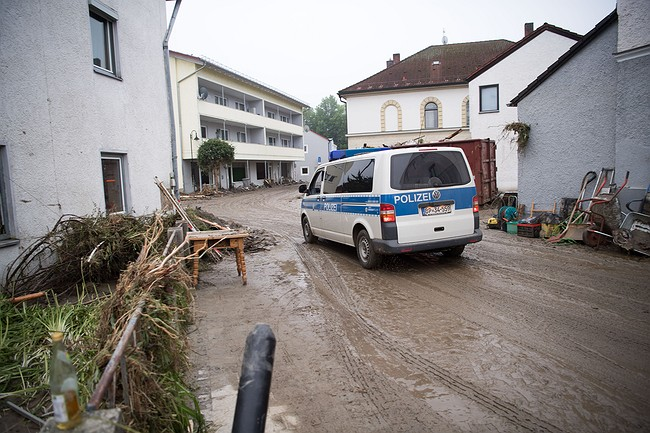 Western Europe toils under flooding that's killed 5 people