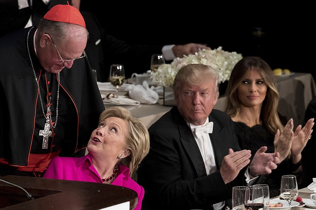 Bible Bashing: Trump and Clinton Clash at Catholic White Tie Dinner