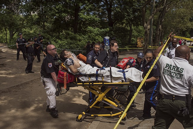 Man badly hurt in Central Park; witnesses hear explosion