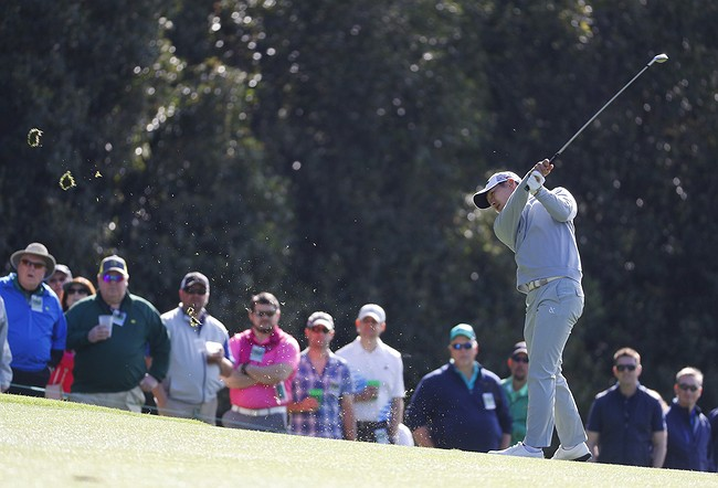 Ernie Els 7 Putts the First Hole at the Masters