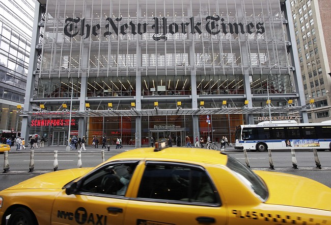Trump aide says he's going to the New York Times