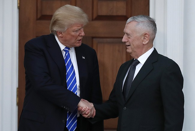 James Mattis to be Trump's secretary of defense