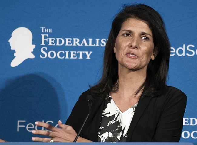 Trump chooses South Carolina Gov. Nikki Haley as United Nations ambassador