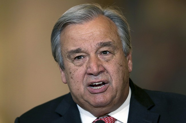 UN General Assembly elects Guterres as secretary