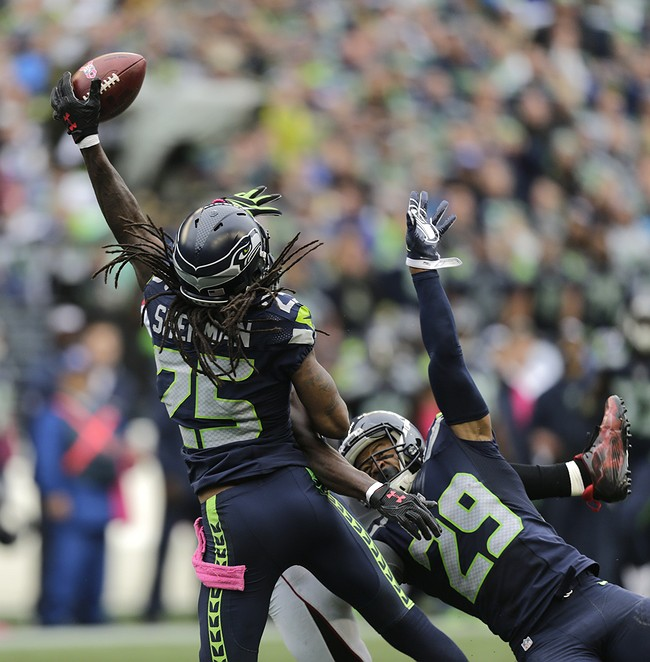 Did Officials Miss PI Call On Richard Sherman Against Julio Jones?
