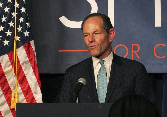 Ex-Gov. Eliot Spitzer accuser arrested, charged with extortion, sources say
