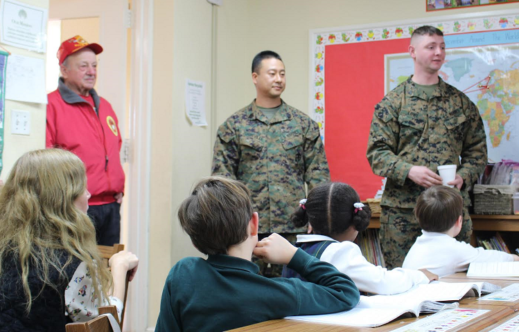 U S Marines Visit Harbor Country Day School To Collect Thousands Of Donated Toys