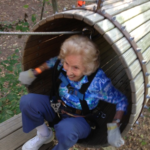 95 Year Old Woman Sets New Climbing Record In Treetops At The Adventure Park Again
