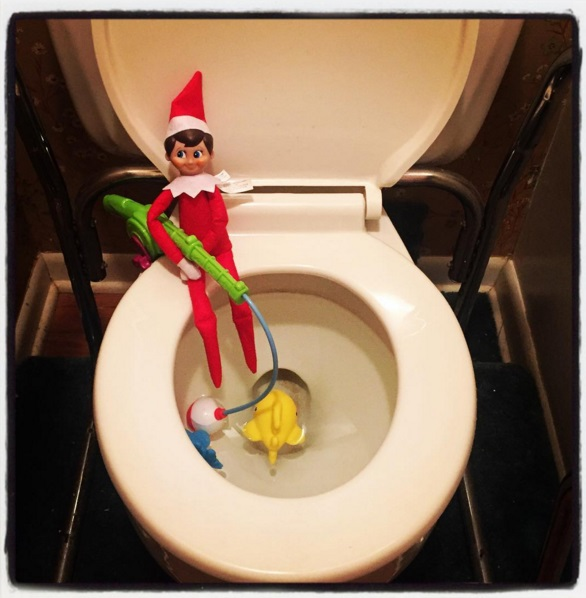 Get creative this holiday season with your elf on the for Elf on the shelf fishing