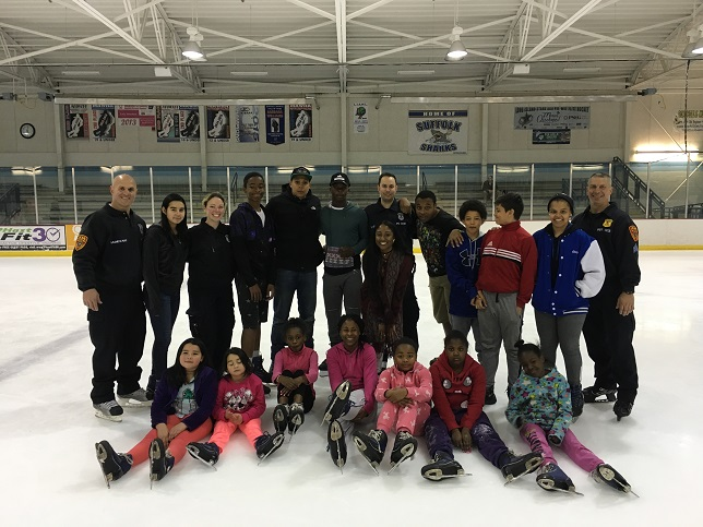 2nd Precinct Officers Joined Children at Dix Hills Ice Rink For a Fun-Filled Afternoon on Ice