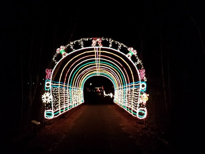 About To Drive Thru The Light Tunnel From Scouts Of Suffolk County Holiday Show An Iconic Long Island