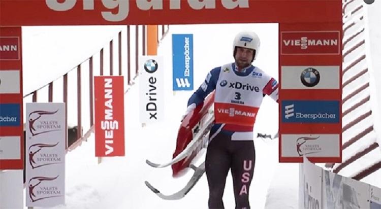 "sigulda single men € 15,- per single  herren / men: herrenstart / men`s starts – 1200 m  chief of track bobsleigh and luge track ""sigulda."