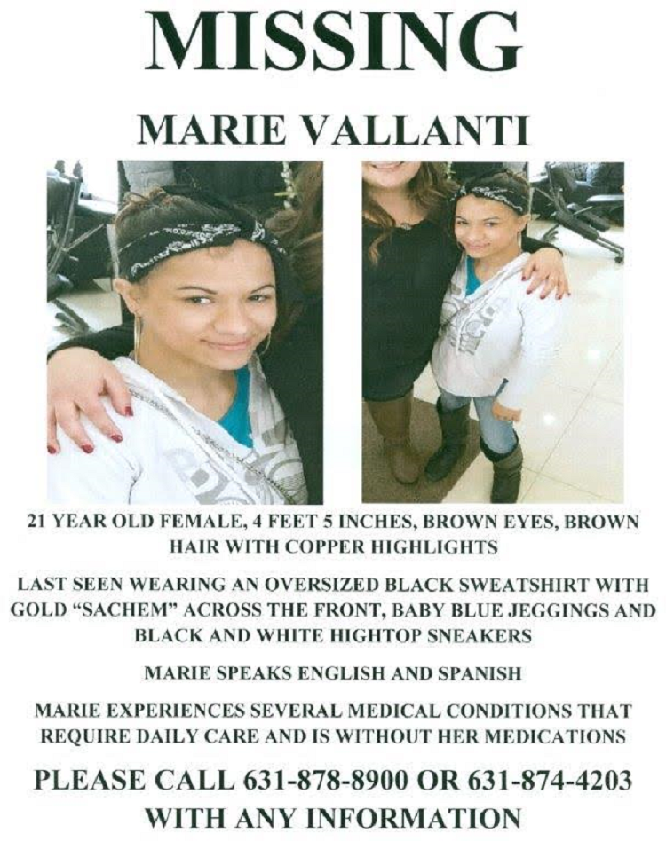 east moriches women Suffolk county police are asking for the public's help in finding a woman missing from a group home in east morichesthe missing woman, marie vallanti,.