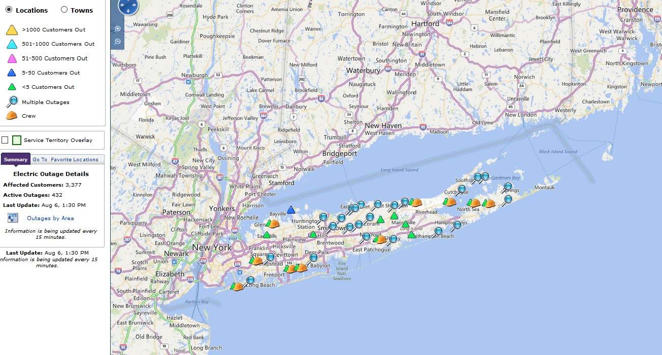 Pseg Long Island Storm Update As Of Aug 6 At 11 30 A M