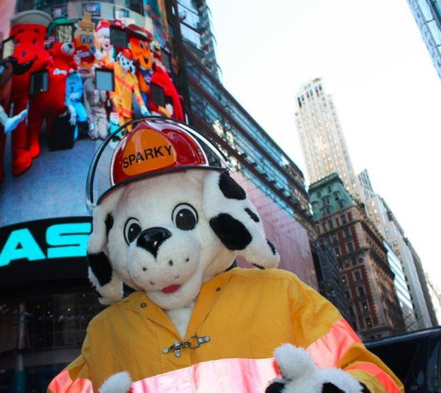 Sparky The Fire Dog Kicks Off His 65th Birthday Bucket