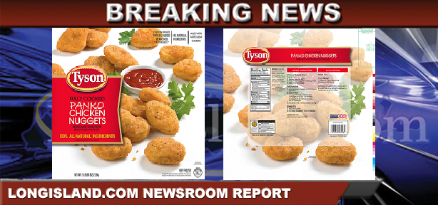 Tyson Foods Inc Recalls Chicken Nugget Products Due To Possible