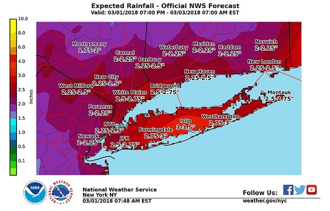 Nor'easter Brings Flooding, Gusts to Long Island