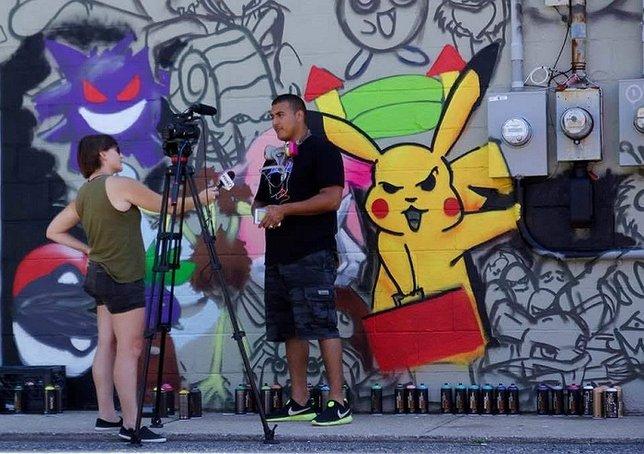 Pokemon Wall Art in Huntington  Catch u0027Em All  & Pokemon Wall Art Mural in Huntington