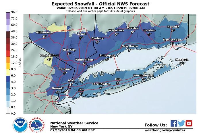 Snow, Freezing Rain Expected Throughout Tuesday