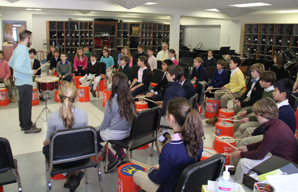 Green Vale Students Train with Richie Barshay Trio