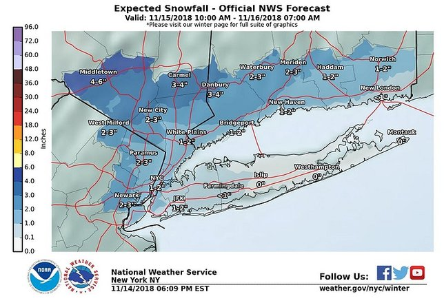 Making A Weather Map.National Weather Service Snow And Sleet To Hit Long Island For
