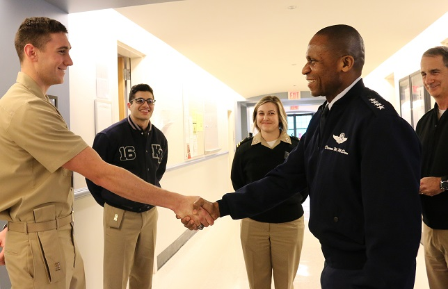 U.S. Air Force Gen. Darren W. McDew, Commander, U.S. Transportation Command, Visits U.S. Merchant Marine Academy