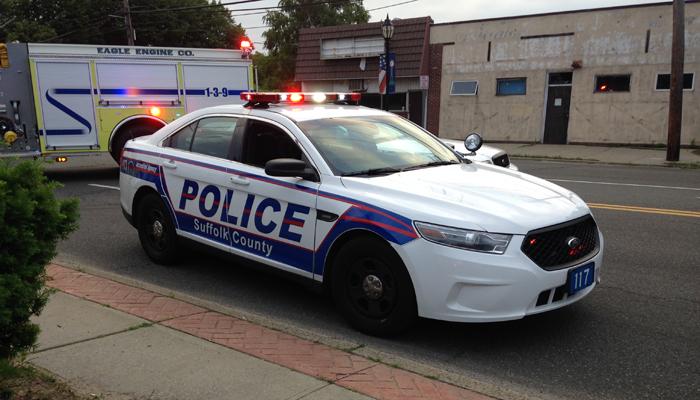 Suffolk County Police Car Crash