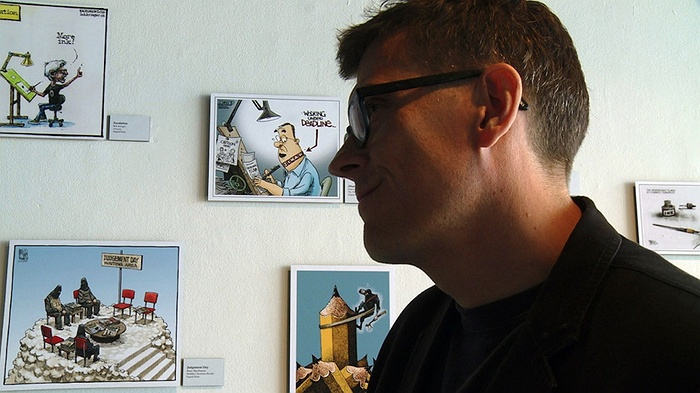 Controversial Cartoonist, Mr. Fish, on Tom Needham's The Sounds of Film