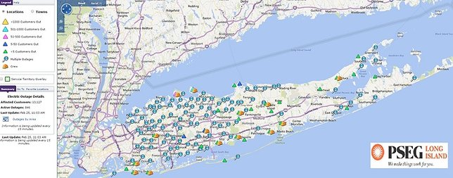 Psegli Power Outage Map PSEG LI Thunderstorm Update: Thousands Still Without Power as of